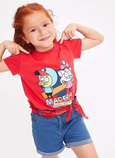 DeFacto Kral Şakir Lisanslı Kısa Kollu T-shirt Kırmızı